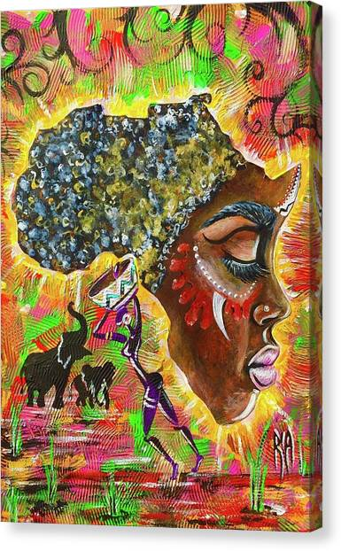 Flags Canvas Print - Africa by Artist RiA