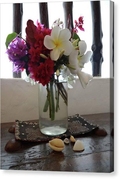 Exploramum Canvas Print - African Flowers And Shells by Exploramum Exploramum