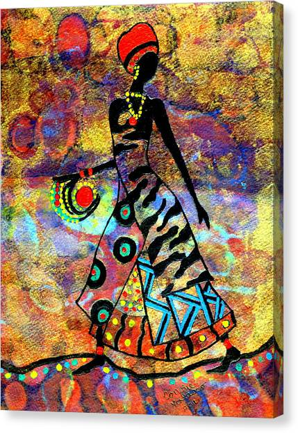 African Healer New Color Canvas Print