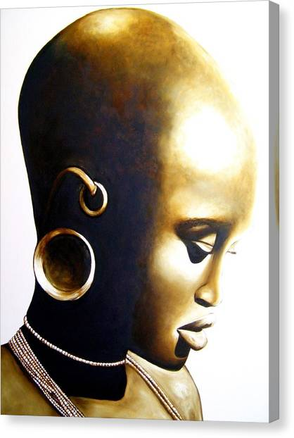 African Lady - Original Artwork Canvas Print