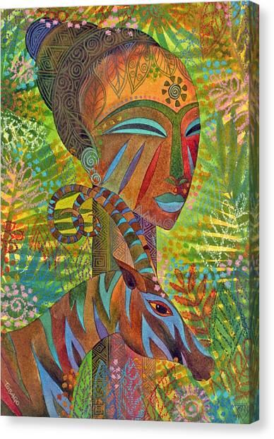Mask Canvas Print - African Queens by Jennifer Baird