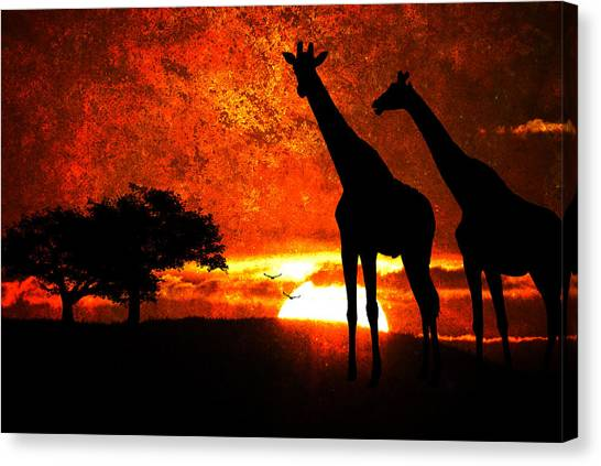 African Safari Canvas Print