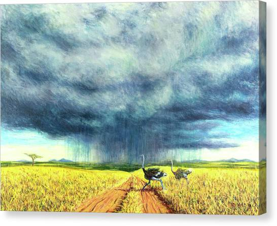 Kenyan Canvas Print - African Storm by Tilly Willis