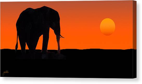 African Sunset Canvas Print by Joe Costello