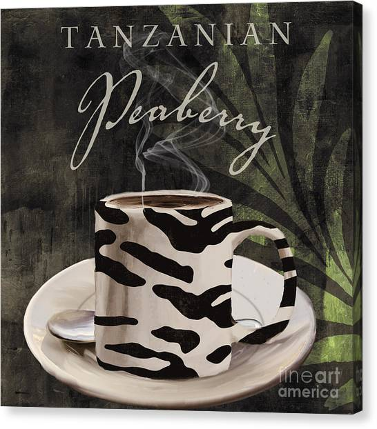 Blue Camo Canvas Print - Afrikan Coffees by Mindy Sommers