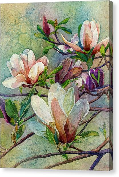 Blooming Tree Canvas Print - After A Fresh Rain by Hailey E Herrera