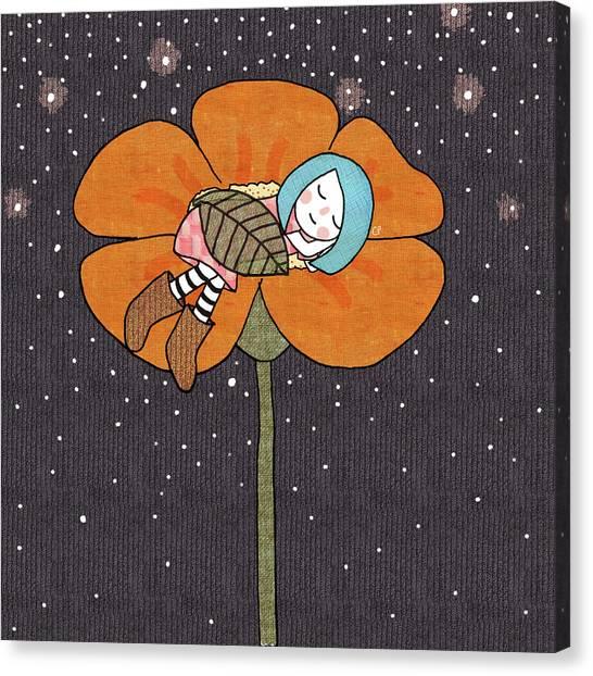 Sleep Canvas Print - After A Long Day by Carolina Parada