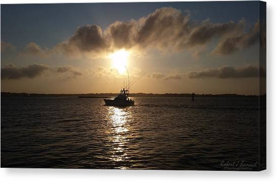After A Long Day Of Fishing Canvas Print