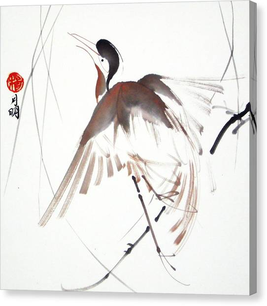 After A Long Flight Canvas Print by Ming Yeung