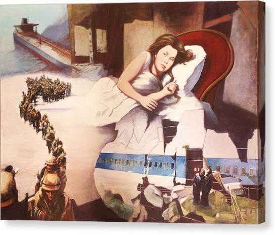 After Alice Canvas Print by James LeGros