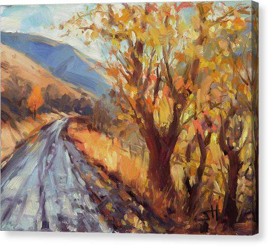 Countryside Canvas Print - After An Autumn Rain by Steve Henderson