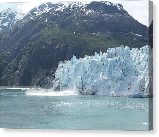 Margerie Glacier Canvas Print - After Calving by Katie Beougher