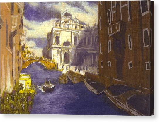 After Church Of Santi Giovanni E Paolo With The School Of St. Mark Canvas Print by Hyper - Canaletto