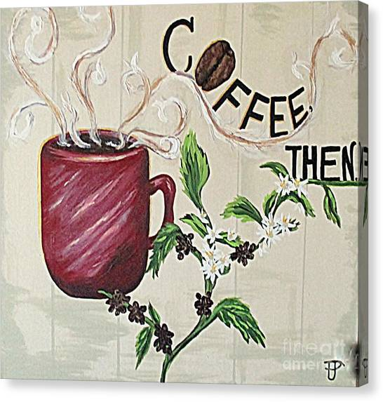 After Coffee Canvas Print