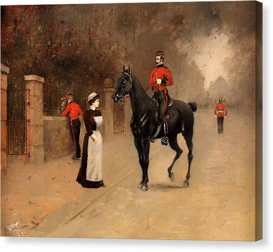 Royal Guard Canvas Print - After Drilling - Kensington by Mountain Dreams
