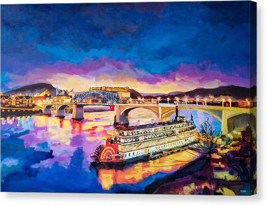 After Dusk Painting Canvas Print