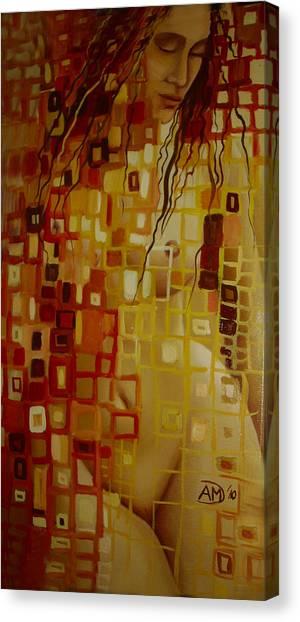 After Hanging Canvas Print by Ana-Maria Dragomir Cioroiu