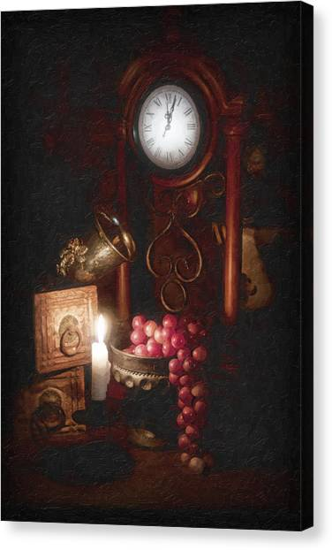 Grapes Canvas Print - After Midnight by Tom Mc Nemar