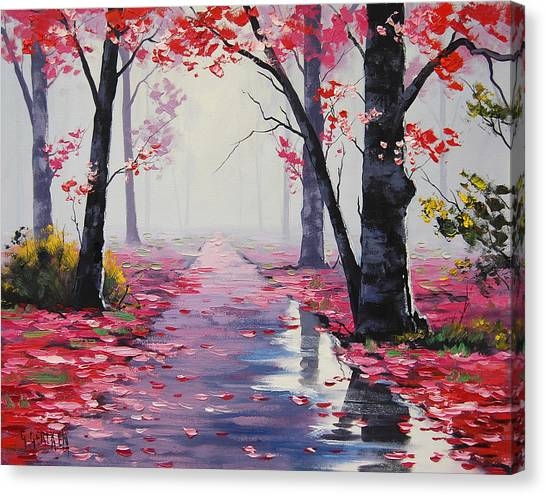 Autumn Leaves Canvas Print - After Rain by Graham Gercken