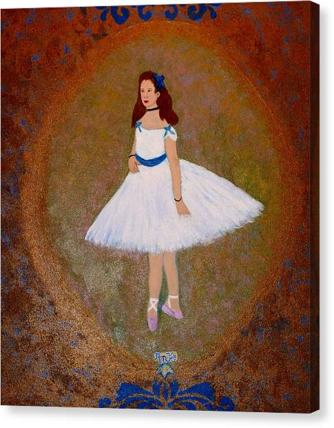 After Renoir - The Dancer Canvas Print by Anke Wheeler