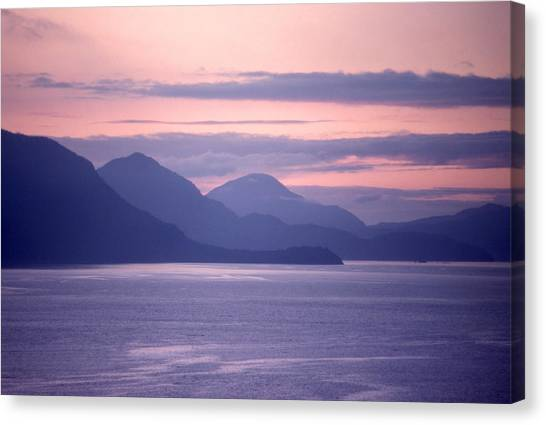 After Sunset Mountains 62 Canvas Print by Lyle Crump