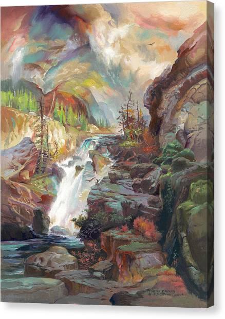 After T. Moran Canvas Print by John Norman Stewart