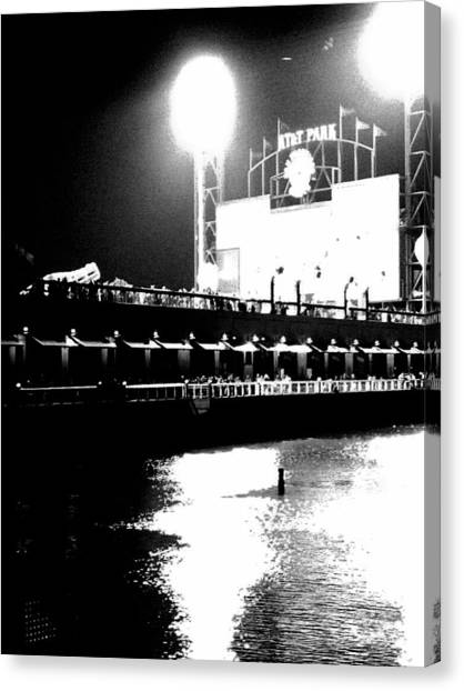 San Francisco Giants Canvas Print - After The Game by Shane Allen