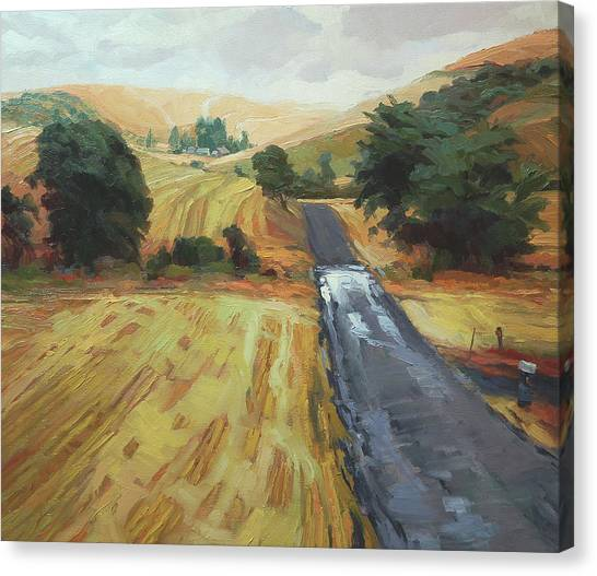 Countryside Canvas Print - After The Harvest Rain by Steve Henderson