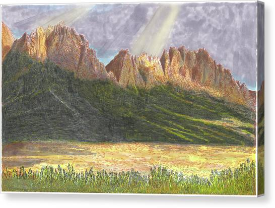 Canvas Print - After The Monsoon Organ Mountains by Jack Pumphrey