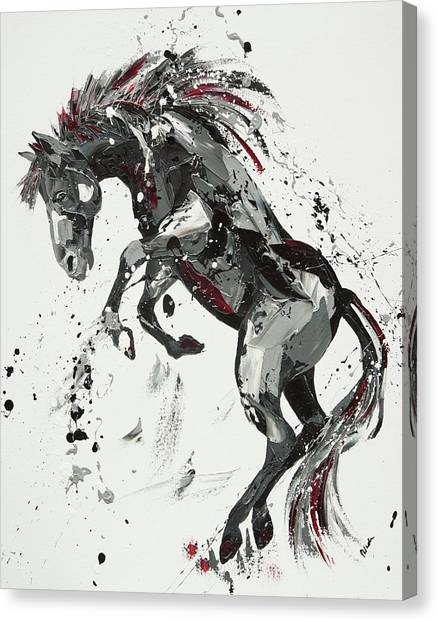 Wild Horse Canvas Print - After The Rain by Penny Warden