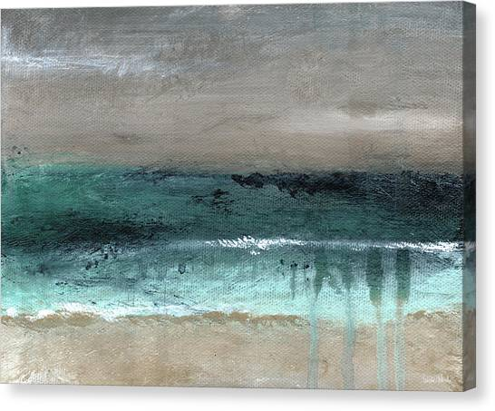 Bedroom Canvas Print - After The Storm 2- Abstract Beach Landscape By Linda Woods by Linda Woods