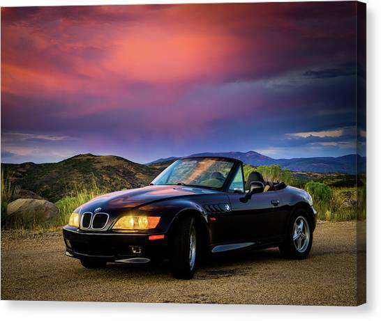 After The Storm - Bmw Z3 Canvas Print