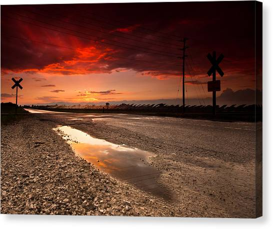 Solar Farms Canvas Print - After The Storm by Cale Best