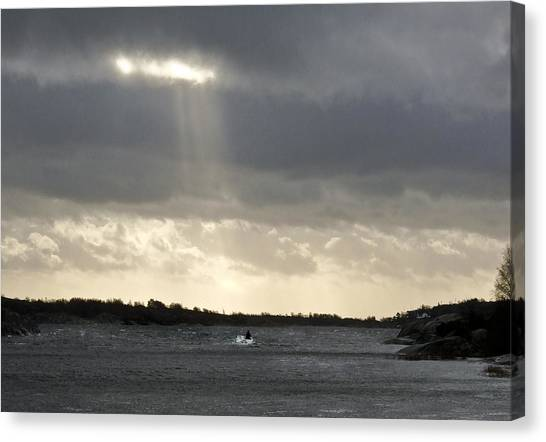 After The Storm Canvas Print by Dan Andersson