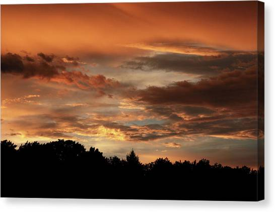 Sunset Horizon Canvas Print - After The Storm by Jessica Jenney