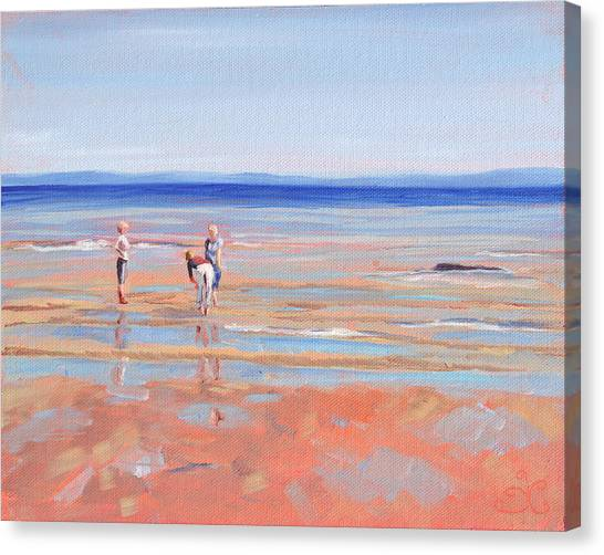 After The Walk - Whiting Bay Canvas Print