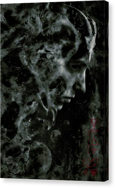 Gothic Art Canvas Print - Afterlife by Cambion Art