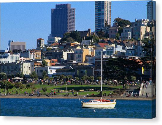 Afternoon At Maritime Park Canvas Print