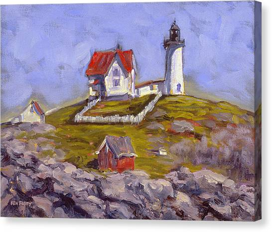 Afternoon At Nubble Light Canvas Print