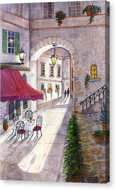 Pavers Canvas Print - Afternoon Delight by Marilyn Smith