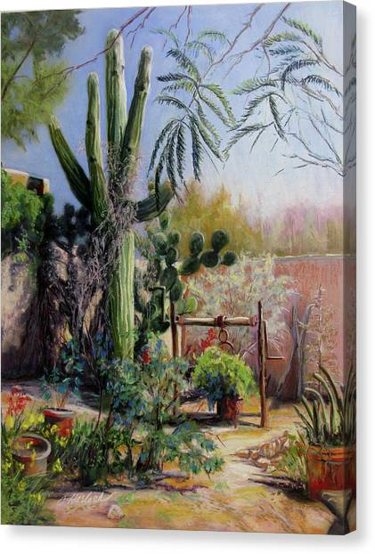 Afternoon In The Garden Canvas Print by Carole Haslock