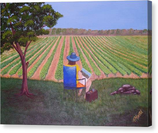 Afternoon In The Vineyard Canvas Print