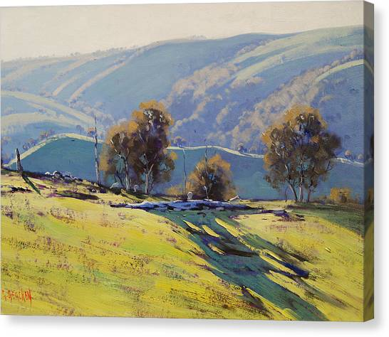 Realistic Canvas Print - Afternoon Light Lithgow by Graham Gercken