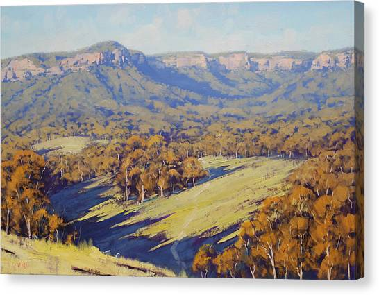 Realistic Canvas Print - Afternoon Light Megalong Valle by Graham Gercken