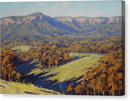 Horizontal Canvas Print - Afternoon Light Megalong Valley by Graham Gercken