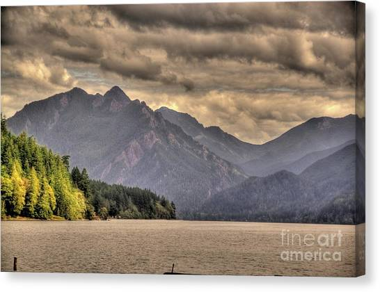 Afternoon Mountain View Canvas Print