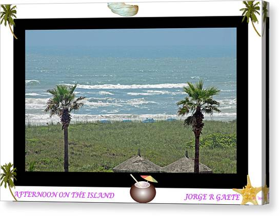 Afternoon On The Island A Poster Canvas Print by Jorge Gaete