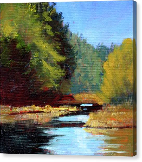 Bachelor Canvas Print - Afternoon On The River by Nancy Merkle