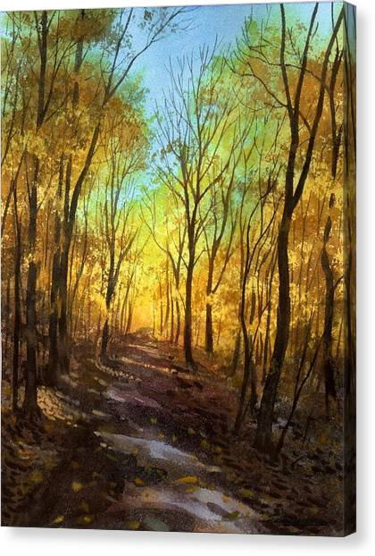 Afternoon Road Canvas Print