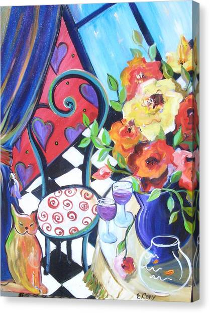 Afternoon Romance Canvas Print by Elaine Cory